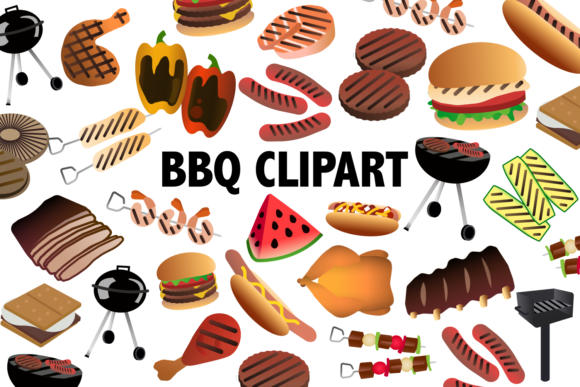 Print on Demand: BBQ Clipart Graphic Illustrations By Mine Eyes Design