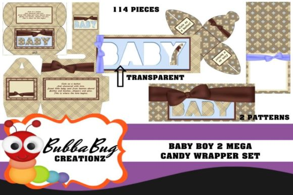 Baby Boy Mega Candy Wrapper Set 2 Graphic