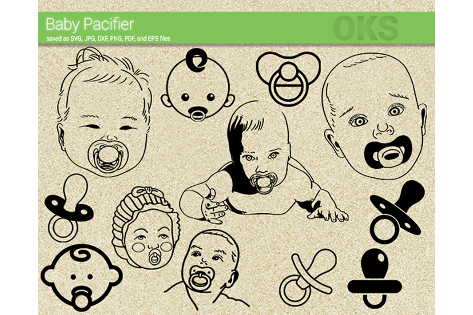 Download Free Baby Pacifier Svg Vector Graphic By Crafteroks Creative Fabrica for Cricut Explore, Silhouette and other cutting machines.