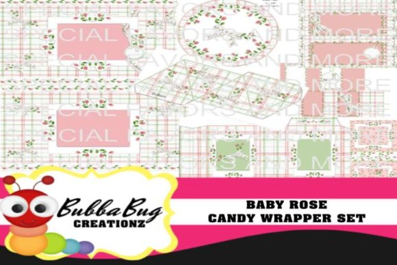 Baby Rose Candy Wrapper Set Graphic Crafts By BUBBABUG