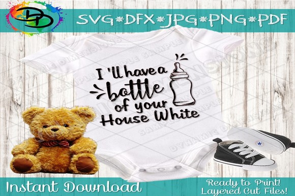 Download Free Baby Bottle Of Your House White Graphic By Dynamicdimensions for Cricut Explore, Silhouette and other cutting machines.