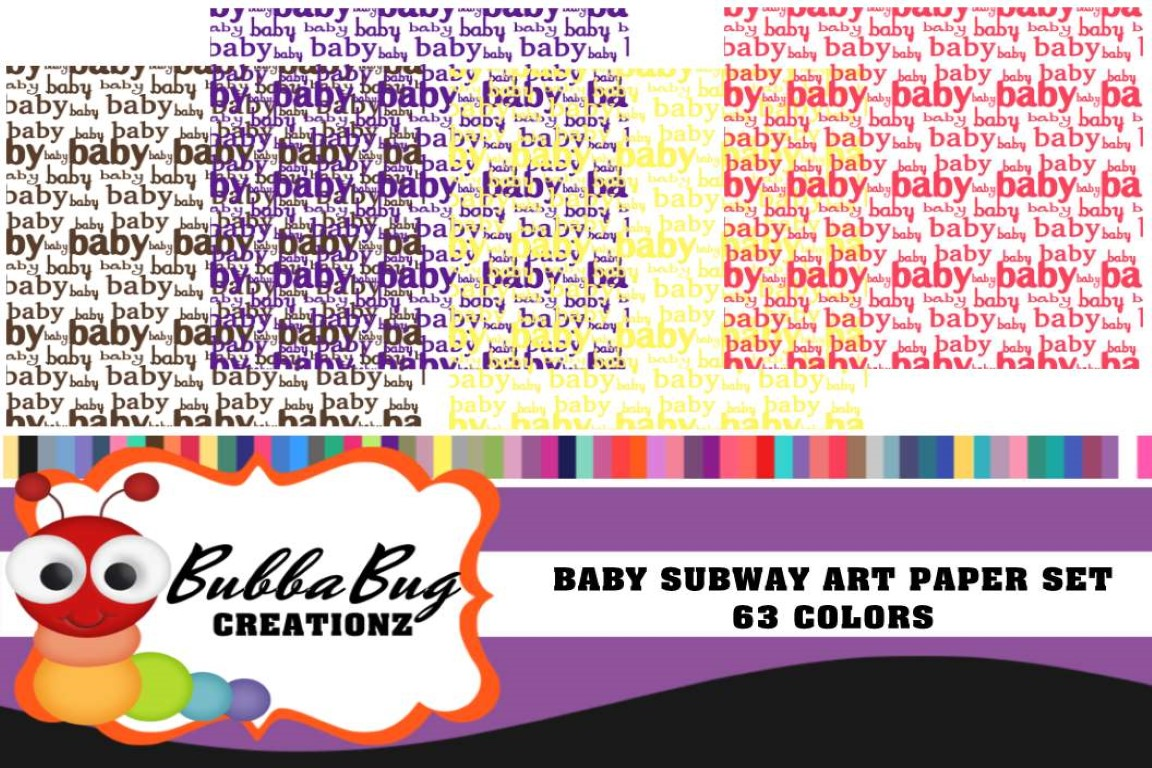 Download Free Baby Subway Art Graphic By Bubbabug Creative Fabrica for Cricut Explore, Silhouette and other cutting machines.