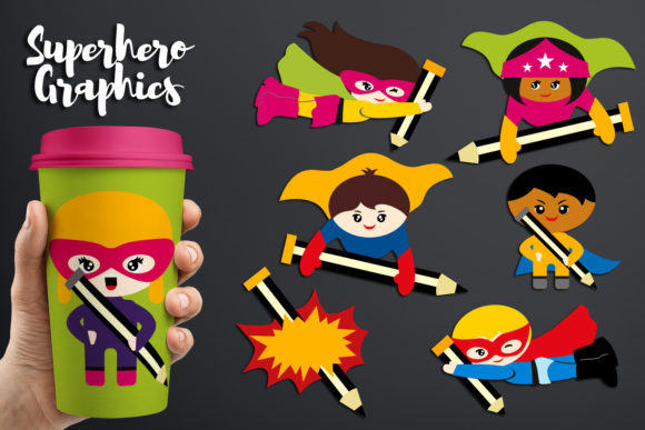 Download Free Back To School Superhero Writing Graphic By Revidevi Creative for Cricut Explore, Silhouette and other cutting machines.