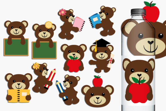 Print on Demand: Back to School Teddy Bear Graphic Illustrations By Revidevi