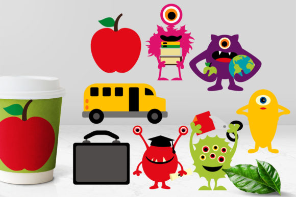 Print on Demand: Back to School Monsters Graphic Illustrations By Revidevi