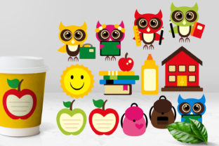 Back to School Owls Graphic By Revidevi