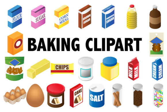 Print on Demand: Baking Clipart Graphic Illustrations By Mine Eyes Design - Image 1