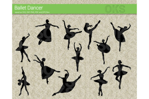 Print on Demand: Ballet Dancer Vector Clipart Graphic Crafts By CrafterOks