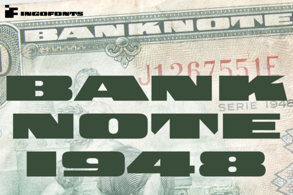 Print on Demand: Banknote 1948 Display Font By ingoFonts