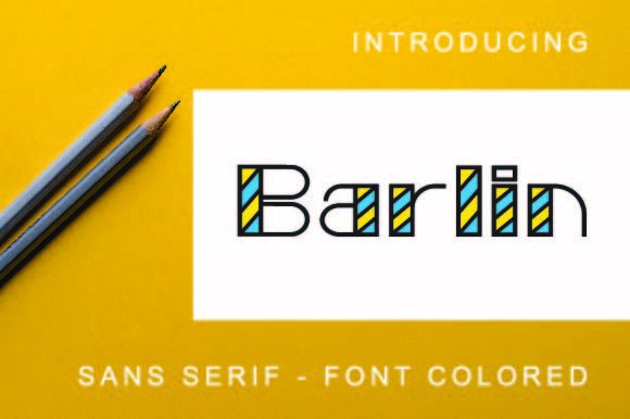 Print on Demand: Barlin Colored Sans Serif Font By ponizeothox
