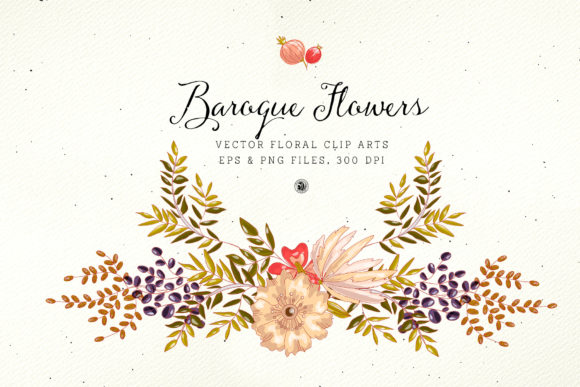 Baroque Flowers Graphic Illustrations By webvilla