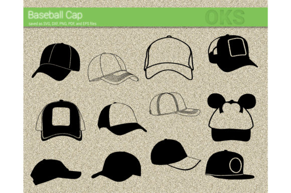 Download Free Baseball Cap Vector Graphic By Crafteroks Creative Fabrica for Cricut Explore, Silhouette and other cutting machines.