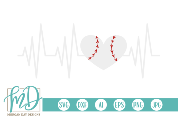 Download Free Baseball Heartbeat Graphic By Morgan Day Designs Creative Fabrica for Cricut Explore, Silhouette and other cutting machines.