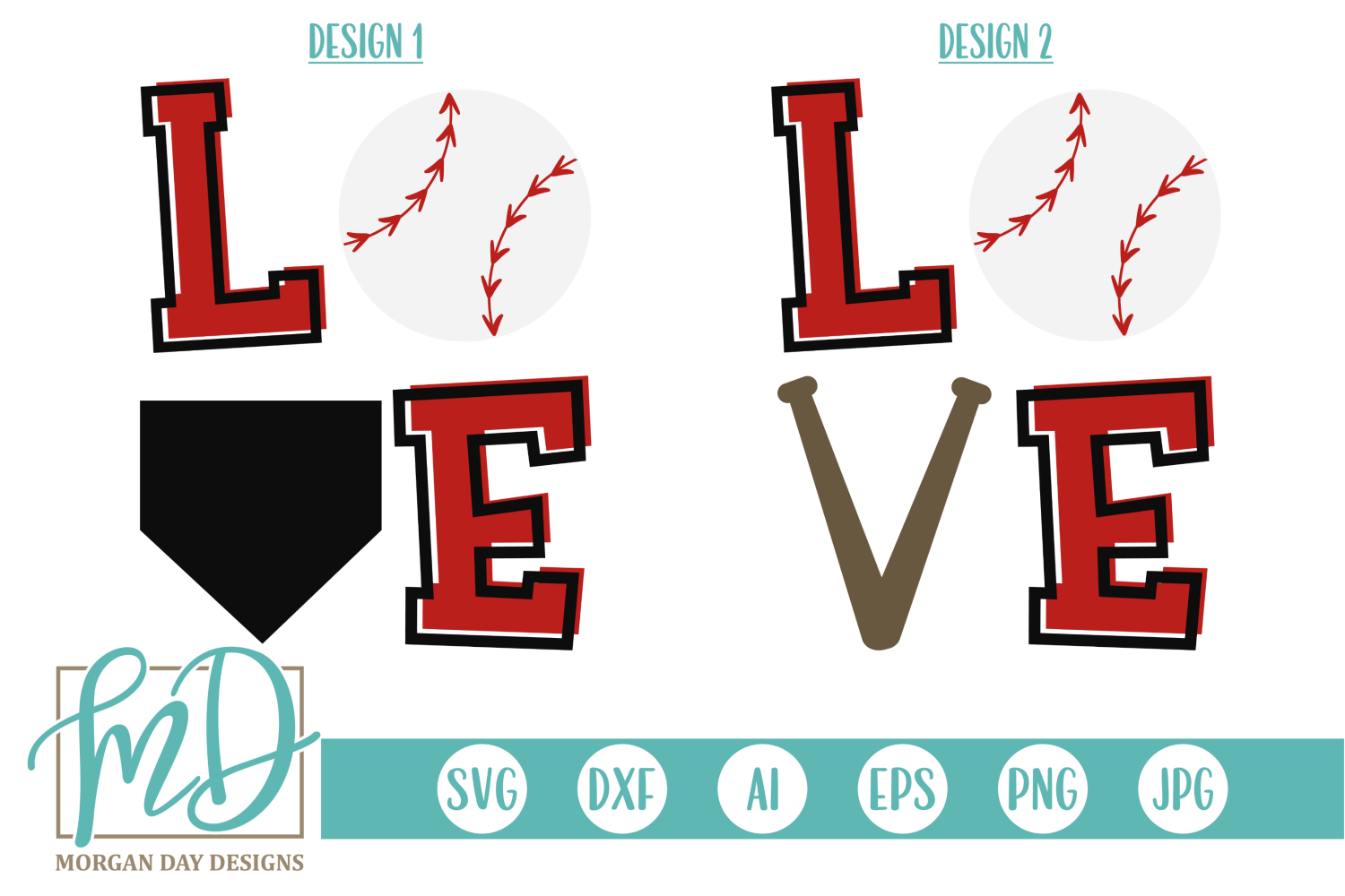 Download Free Baseball Love Graphic By Morgan Day Designs Creative Fabrica for Cricut Explore, Silhouette and other cutting machines.