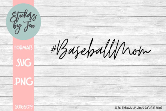 Download Free Baseball Mom Hashtag Svg Cut File Graphic By Stickers By for Cricut Explore, Silhouette and other cutting machines.