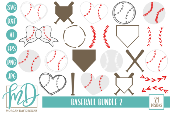 Download Free Baseball Bundle 2 Graphic By Morgan Day Designs Creative Fabrica for Cricut Explore, Silhouette and other cutting machines.