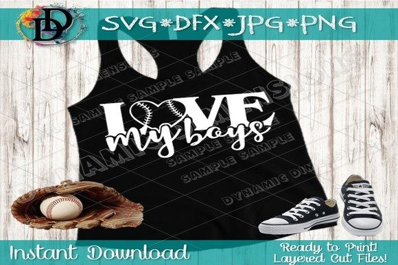 Download Free Baseball Mom Love My Boys Graphic By Dynamicdimensions for Cricut Explore, Silhouette and other cutting machines.