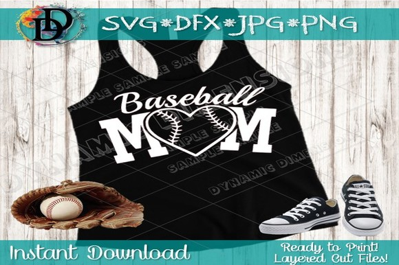 Download Free Baseball Mom Glitter Graphic By Dynamicdimensions Creative Fabrica for Cricut Explore, Silhouette and other cutting machines.
