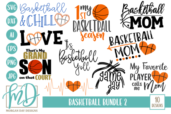 Download Free Basketball Bundle 2 Graphic By Morgan Day Designs Creative Fabrica for Cricut Explore, Silhouette and other cutting machines.