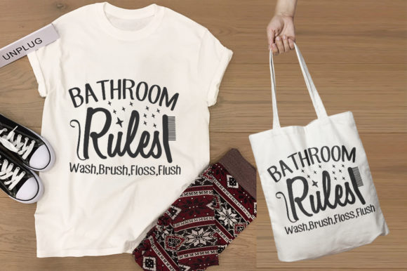 Bathroom 20 Bathroom SVG Designs Graphic Print Templates By Graphicsqueen - Image 5