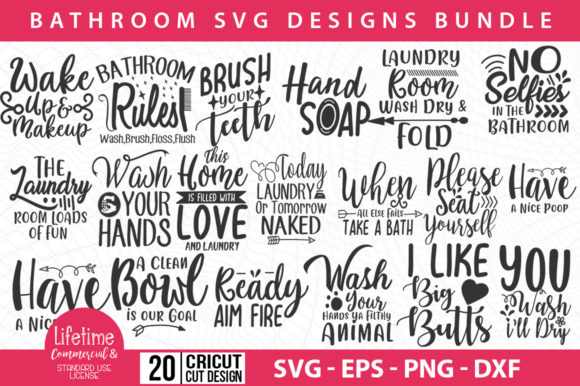 Download Free Bathroom 20 Bathroom Svg Designs Graphic By Graphicsqueen for Cricut Explore, Silhouette and other cutting machines.