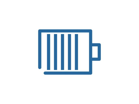 Battery Line Color Vector Icon Graphic By tutukof