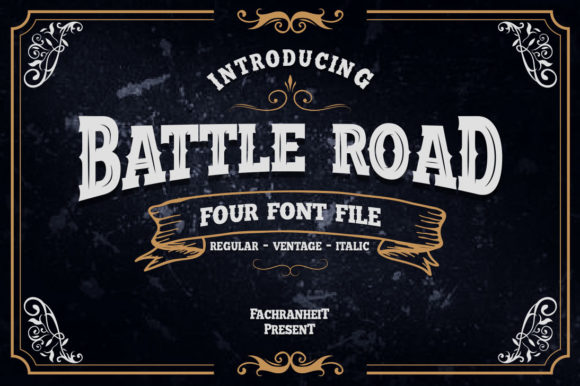 Print on Demand: Battle Road Display Font By fachranheit