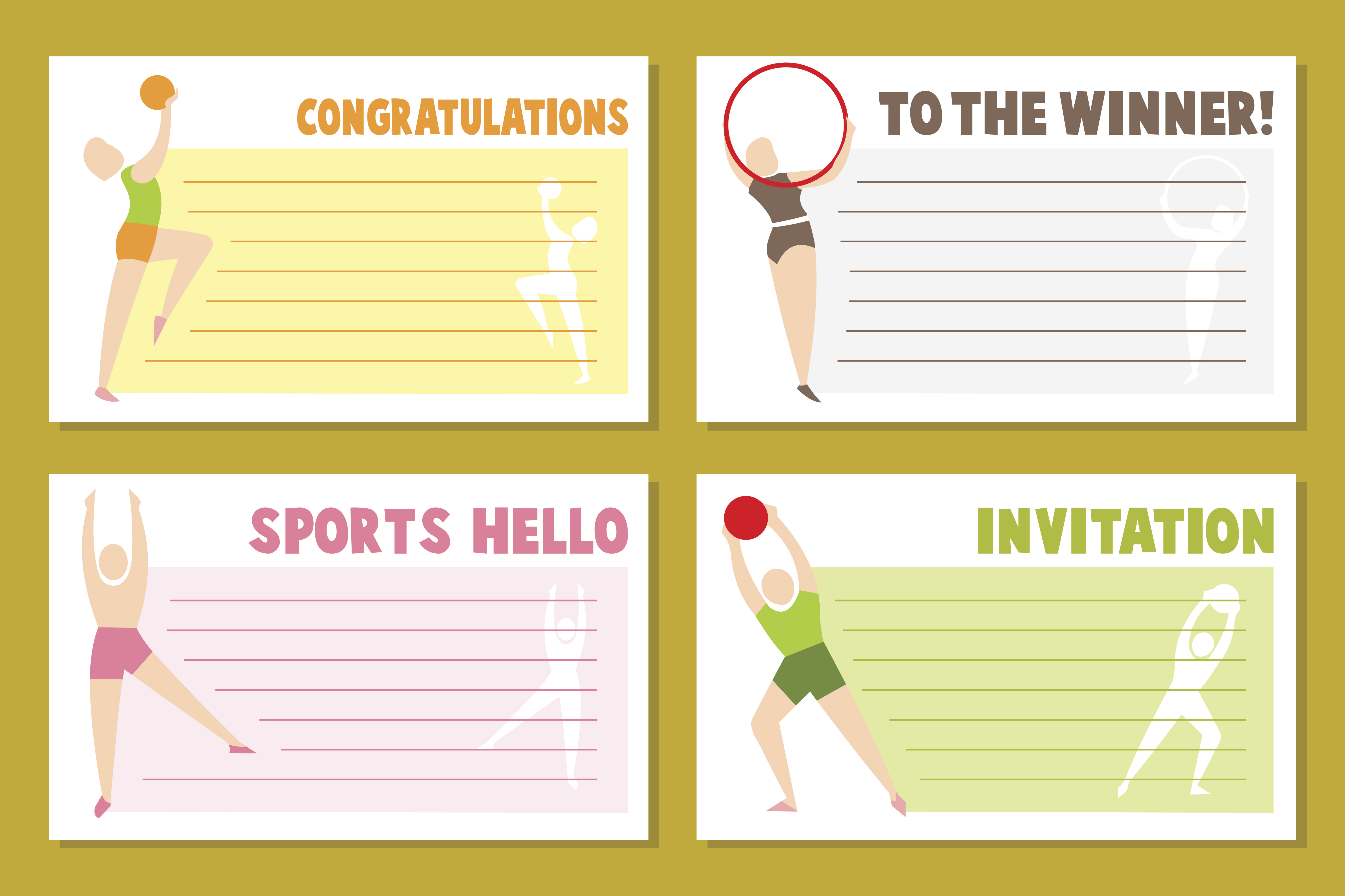 Download Free Bbanner Template Design For Sport Event Graphic By Woplolqow for Cricut Explore, Silhouette and other cutting machines.