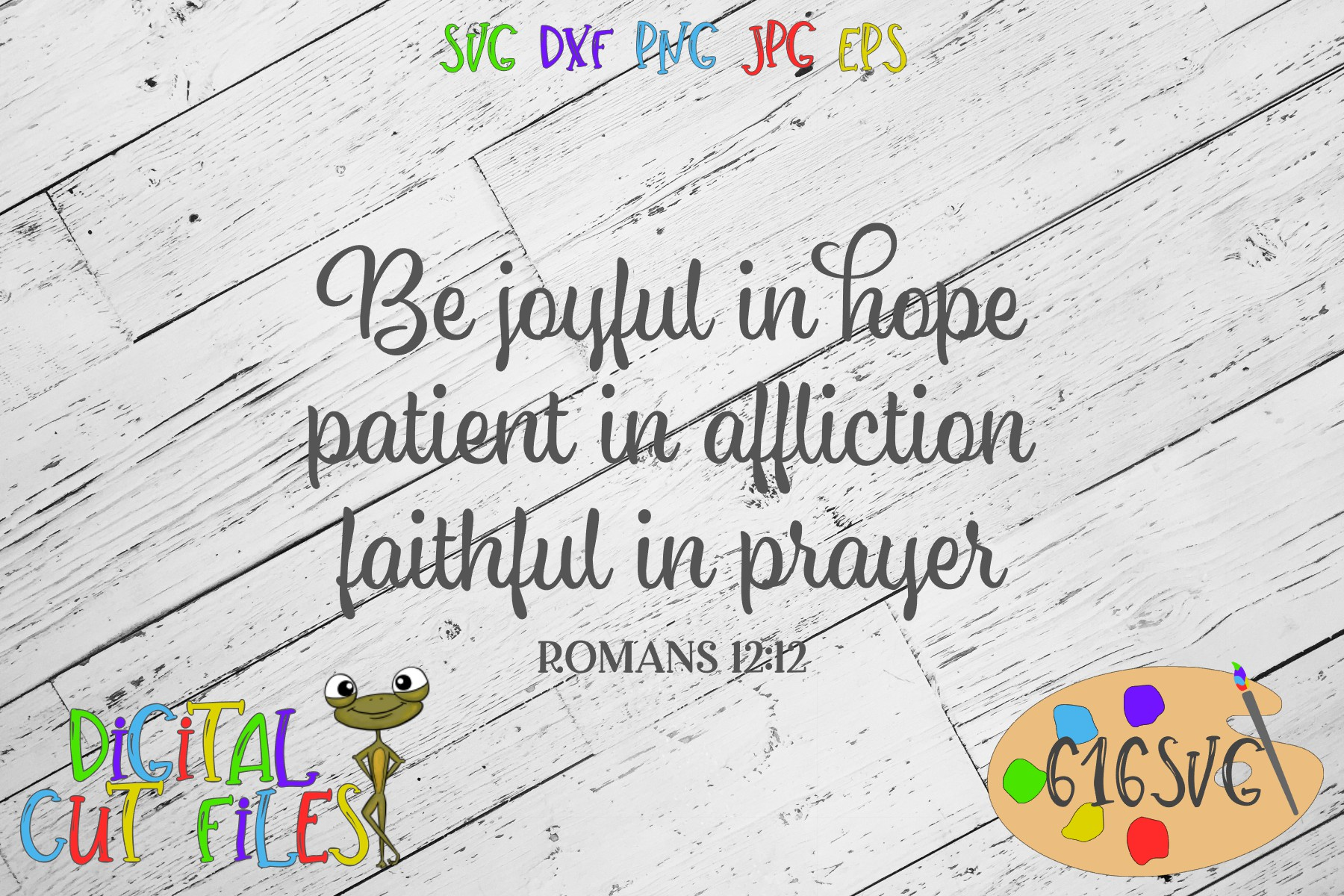 Download Free Be Joyful Romans Svg Graphic By 616svg Creative Fabrica for Cricut Explore, Silhouette and other cutting machines.