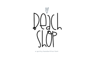 Beach Shop Font By KA Designs