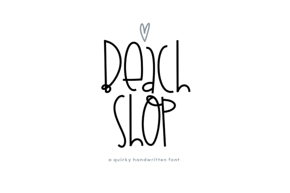 Print on Demand: Beach Shop Display Font By KA Designs