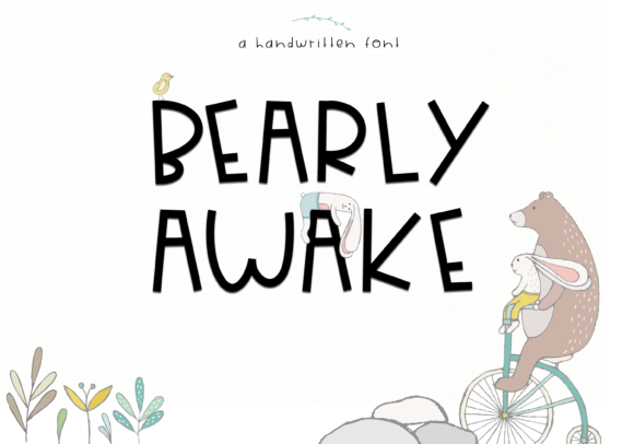 Print on Demand: Bearly Awake Display Font By KA Designs
