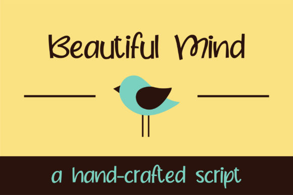 Print on Demand: Beautiful Mind Script & Handwritten Font By Illustration Ink