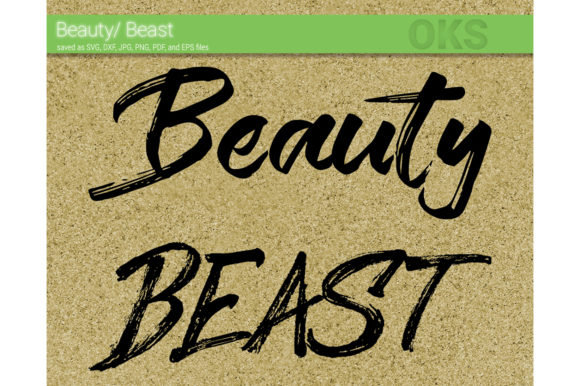 Download Free Beauty Beast Couple Svg Vector Graphic By Crafteroks Creative for Cricut Explore, Silhouette and other cutting machines.