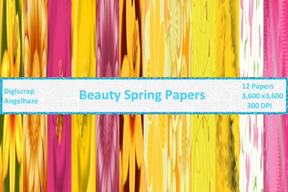 Beauty Spring Papers Graphic By Digiscrap Angelhaze