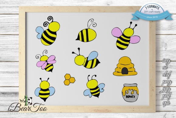 Download Free Honey Pot Honey Jar Clipart Cartoon Graphic By Ibeartoo for Cricut Explore, Silhouette and other cutting machines.