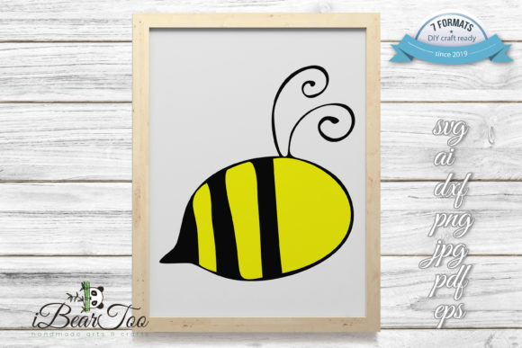 Download Free Bee Bumblebee Clipart Cartoon Graphic By Ibeartoo Creative Fabrica for Cricut Explore, Silhouette and other cutting machines.