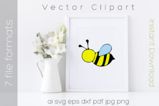 Download Free Bee Bumblebee Clipart Cartoon Graphic By Ibeartoo Creative Fabrica SVG Cut Files
