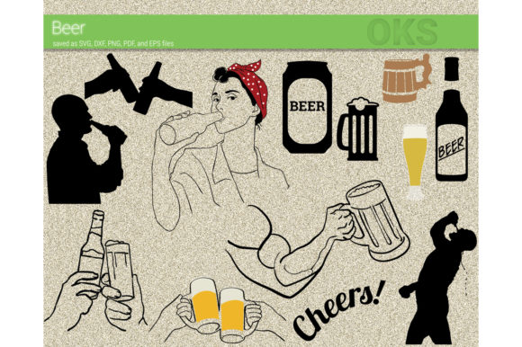 Download Free Beer Vector Clipart Graphic By Crafteroks Creative Fabrica for Cricut Explore, Silhouette and other cutting machines.