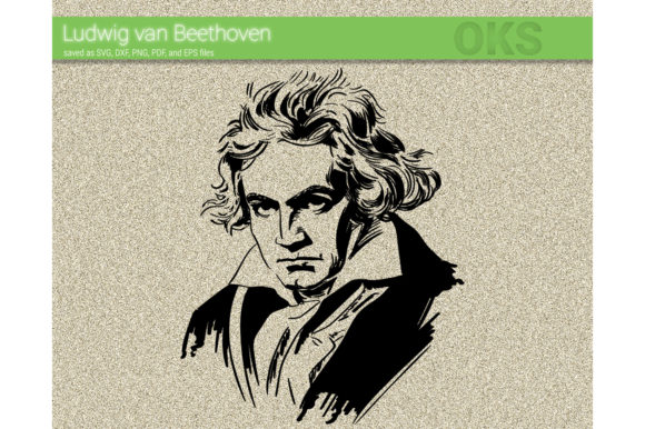 Download Free Beethoven Graphic By Crafteroks Creative Fabrica for Cricut Explore, Silhouette and other cutting machines.