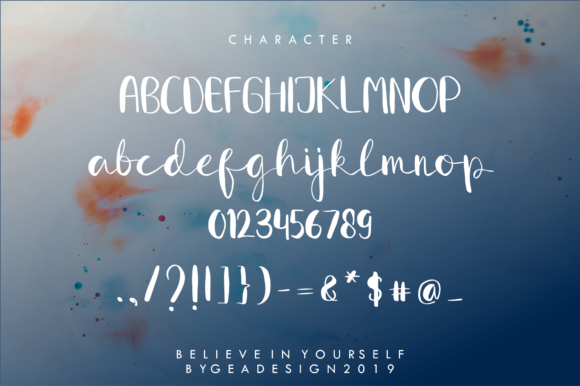 Download Free Believe In Yourself Font By Geadesign Creative Fabrica for Cricut Explore, Silhouette and other cutting machines.