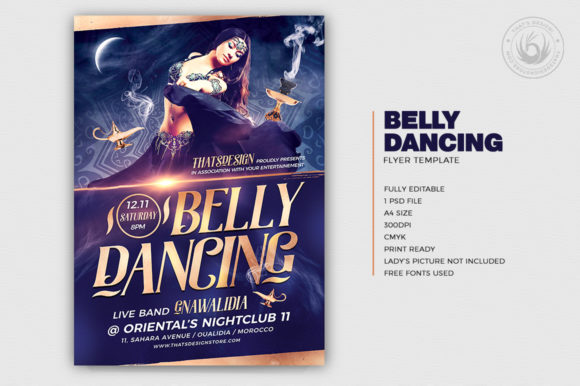Belly Dancing Flyer Template V2 Graphic By ThatsDesignStore Image 2
