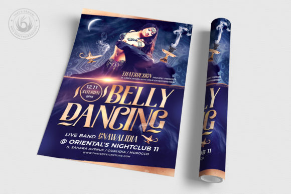 Download Free Belly Dancing Flyer Template V2 Graphic By Thatsdesignstore for Cricut Explore, Silhouette and other cutting machines.