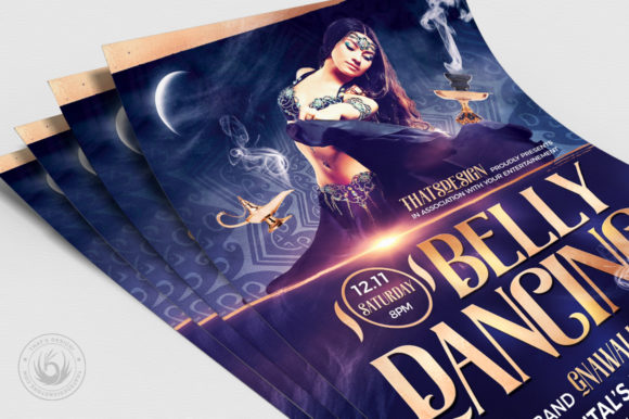 Belly Dancing Flyer Template V2 Graphic By ThatsDesignStore Image 5