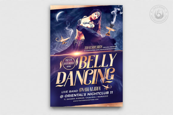 Belly Dancing Flyer Template V2 Graphic By ThatsDesignStore