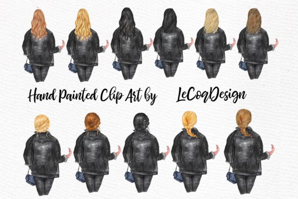 Download Free Best Friends Clipart Black Jackets Graphic By Lecoqdesign for Cricut Explore, Silhouette and other cutting machines.