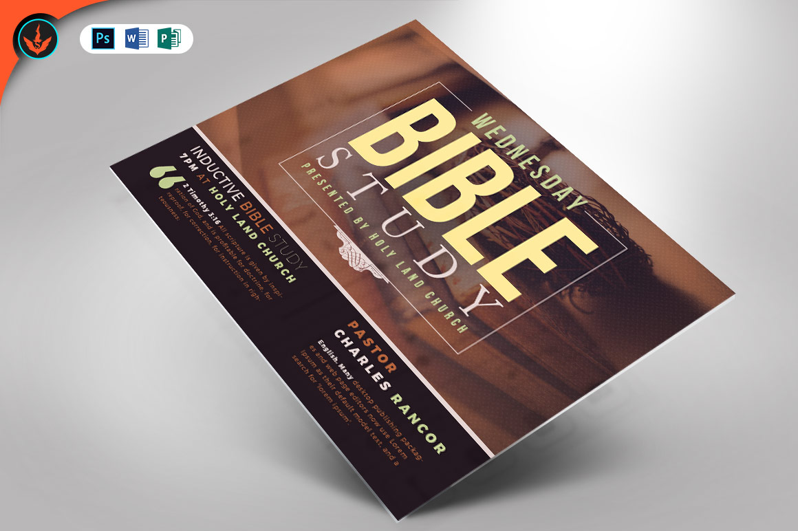 Download Free Bible Study Flyer Template Graphic By Seraphimchris Creative Fabrica for Cricut Explore, Silhouette and other cutting machines.