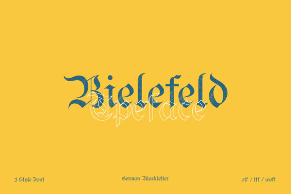 Print on Demand: Bielefeld Blackletter Font By e.myself12
