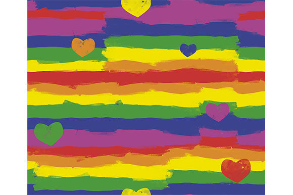 Download Free Big Lgbtq Background Hearts Stripes Graphic By Milaski for Cricut Explore, Silhouette and other cutting machines.