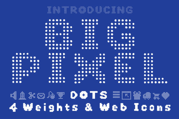 Print on Demand: Big Pixel Dot Display Font By GraphicsBam Fonts